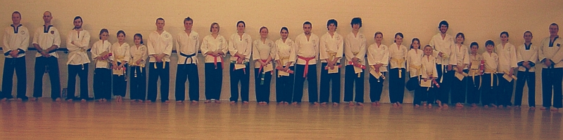 goyararu martial arts grading candidates march 08 - click for bigger image