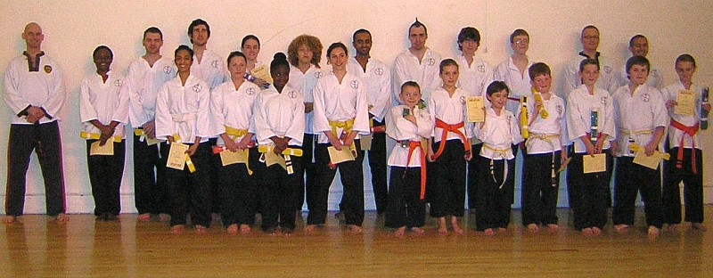 goyararu martial arts grading candidates Nov 08